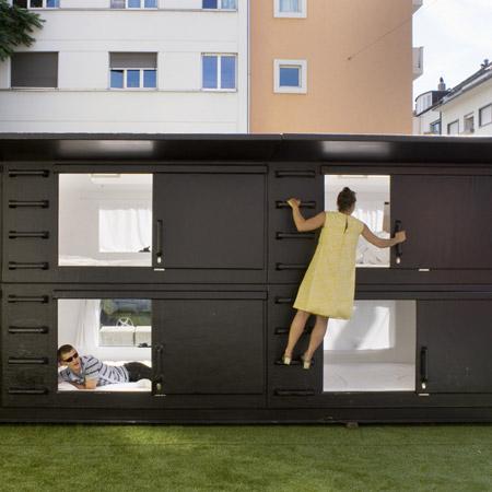 Mini Capsule Hotel by Atelier Van Lieshout