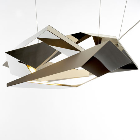 Polygon Crash lamp by Flip Sellin