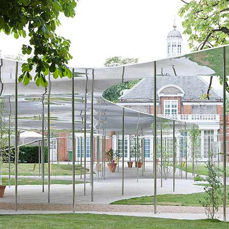 Serpentine Gallery Pavilion by SANAA photographed by Iwan Baan