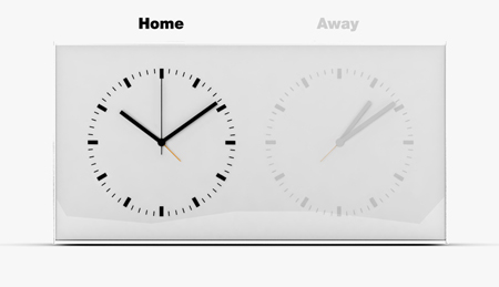 Home Away Dual Time Alarm Clock by Kit Men Dezeen