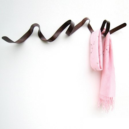 Ribbon coat rack by Hemal Patel