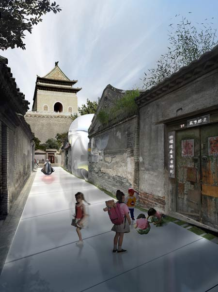Beijing Hutong Bubble by MAD 2