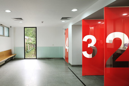 Visa section of Swiss Embassy by EXH Design Dezeen