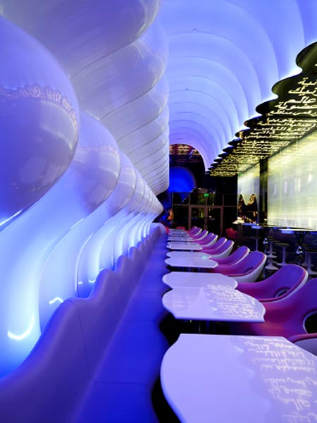 Switch restaurant by karim rashid dezeen for Dubai decoration interieur