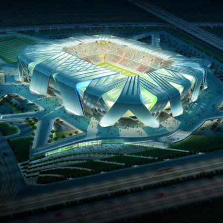 Dalian Football Stadium by UNStudio