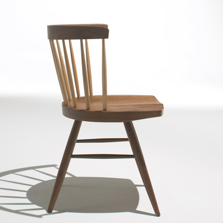 Straight Chair and Splay Table by George Nakashima for Knoll