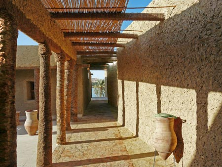 Vernacular Architecture on Called Ecolodge And Situated Overlooking The Desert  The Building Is