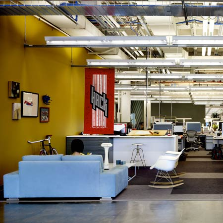 The Design Uses Colour Coding To Differentiate Between Teams Within Open Plan Space