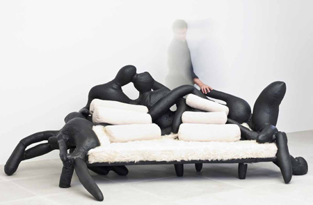 Above: Body Sofa, 2009, Fibreglass, Upholstery