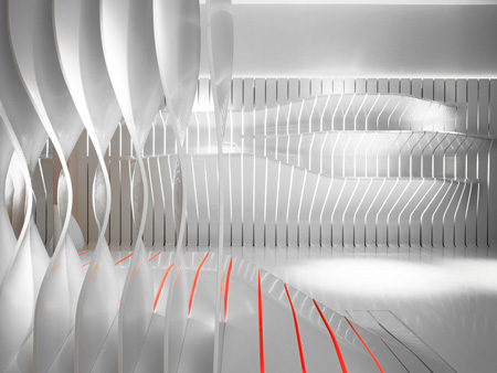 Салон Corian Super-Surfaces от Amanda Levete Architects