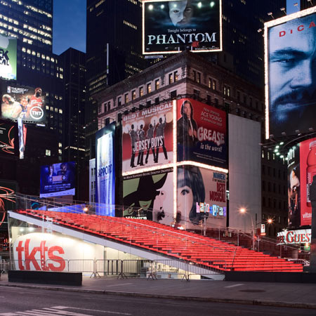 TKTS Booth and Father Duffy Square by Choi Ropiha, Perkins Eastman and PKSB Architects