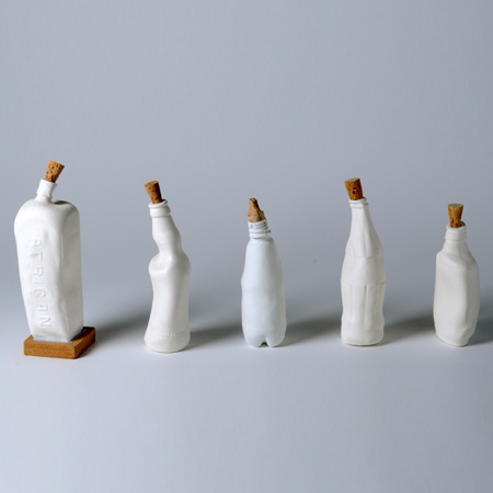 Water-shaped bottles by Xiaoli Wen