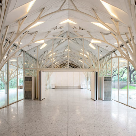 The tote by serie architects dezeen for Wedding hall design