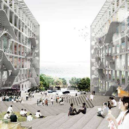 Chu Hai College Campus by OMA