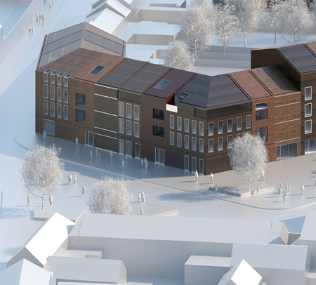 Paris studio lan architecture have won a competition to design a residential complex for mouvaux france with their design for terraced housing