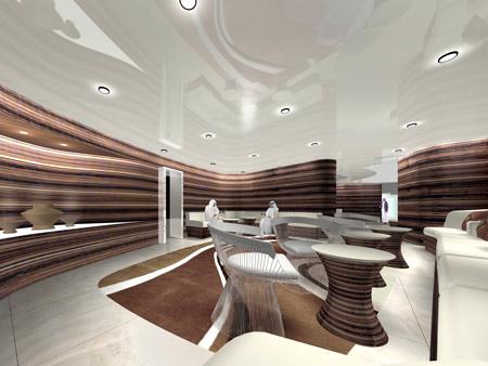 Burj khalifa by som dezeen for Armani hotel dubai interior design