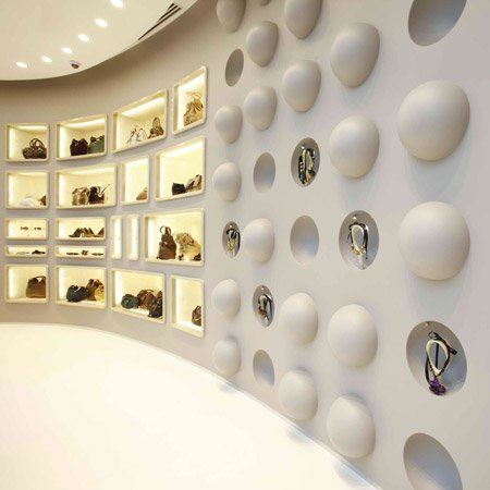 London Architects Sybarite Have Completed The Interior Of A Store In Las Vegas For Fashion Brand Marni Which Features Stainless Steel Rails Snaking Through