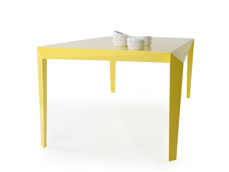 Best VOLT is a table with integrated legs and table top The legs seem to be part of the top and the top seems to be part of the legs