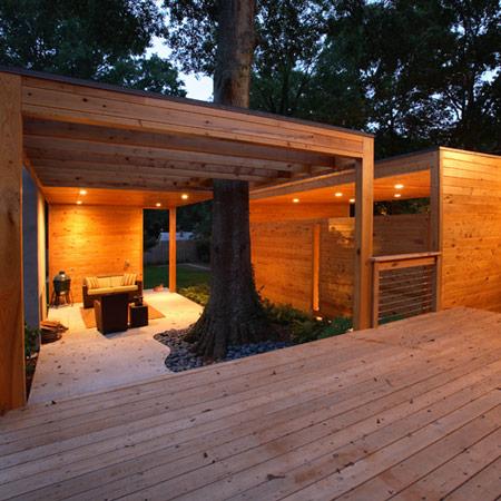 Kose dominey pavilion by lightroom studio for Outside studio room