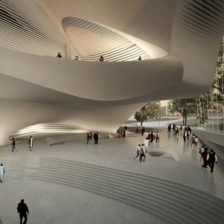 King Abdullah II House of Culture & Art by Zaha Hadid Architects