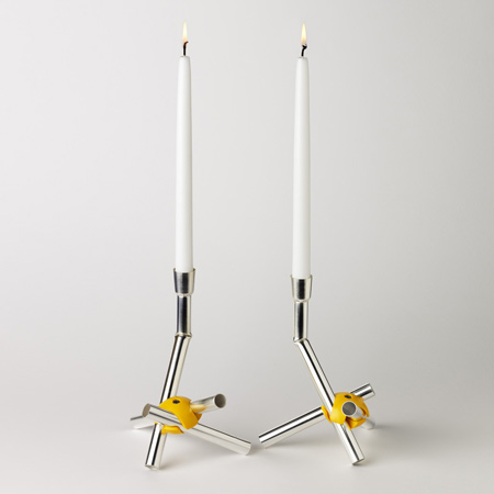 Silver Candlesticks by David Taylor
