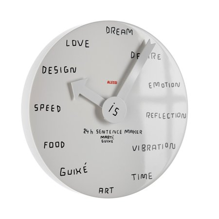 Blank Wall Clock by Martí Guixé for Alessi