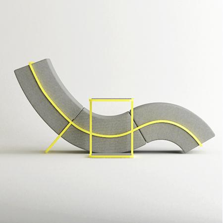 Curve Frame Sofa Set by Hyung Suk Cho
