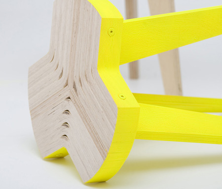 The Item Previewed Here Is Offset Stool It S The Result Of A Deep Research Into Bent Plywood Its Possibilities In Furniture And Manufacturing Process