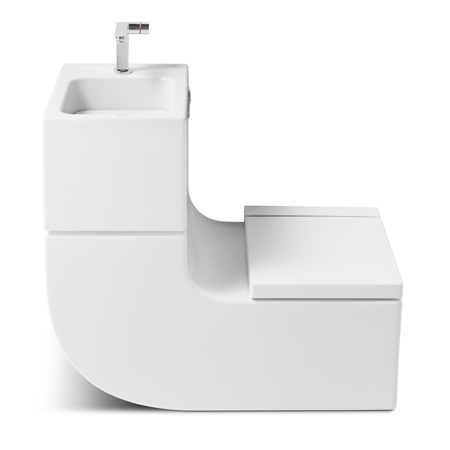 Milan designers Gabriele and Oscar Buratti have collaborated with bathroom  brand Roca to create a combined toilet and wash basin, where waste water  from the ...