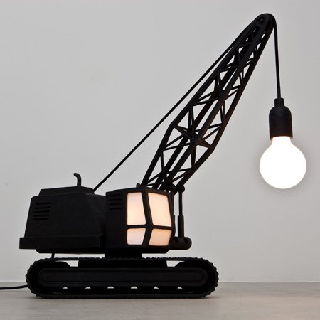 Wrecking Ball Lamp and Crane Lamp by Studio Job