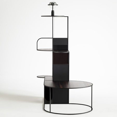 Called Downtown, The Furniture Is Made Of Square Metal Tubes With Wooden  Horizontal Platforms And Matt Black Vertical Planes.