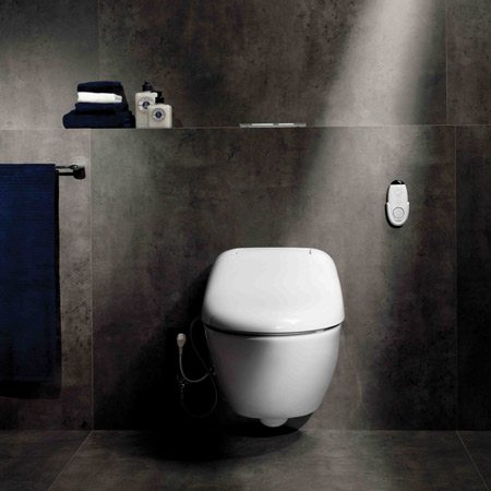 Japanese Self Cleaning Toilet. Called Giovannoni WASHLET  the design is self cleaning and features a heated seat air dryer remote control Washlet by Stefano for Toto Dezeen