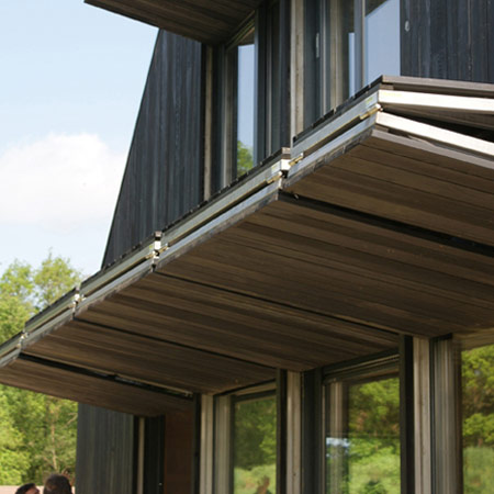 Nordic neanderthal het entreehuis by bureau b b Folding window
