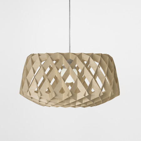 plywood lighting. Called Pilke, The Light Shades Are Made Of Identical Plywood Cutouts, Which Interlock To Form A Three-dimensional Shape. Lighting