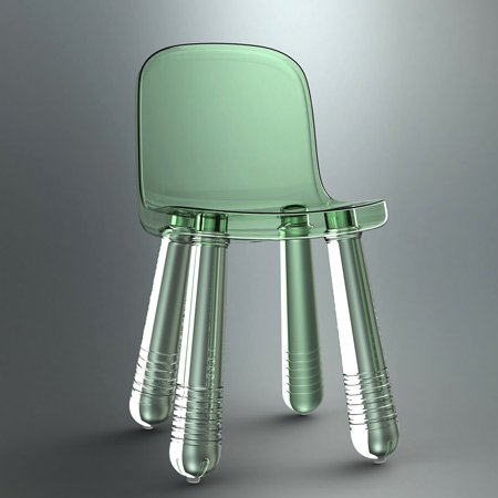 Called Sparkling Chair The Product Is Made Of Transparent Plastic For Italian Manufacturers Magis
