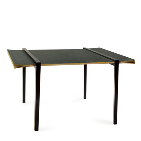 Amazing  with Karl Johan Hjerling and Karin Widmark to create a table where layers of the plywood top appear to burst apart and curl around one end