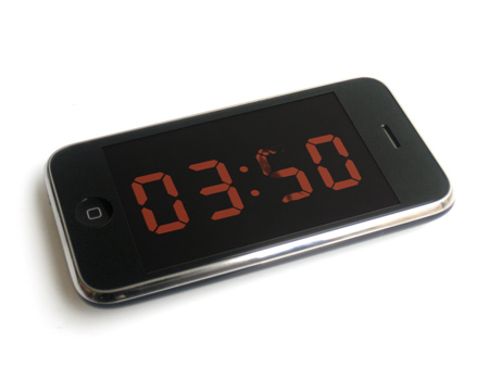 Analog Digital Clock iPhone app by Maarten Baas