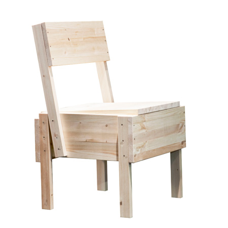 Sedia 1 - Chair by Enzo Mari for Artek