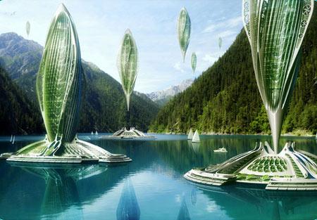 Плавающая органическая ферма на морях и океанах