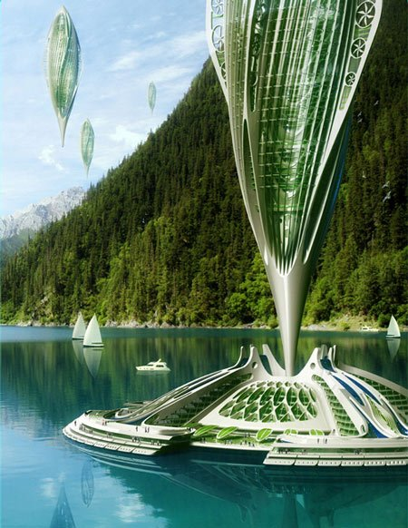 Hydrogenase by vincent callebaut dezeen for Architecture futuriste ecologique
