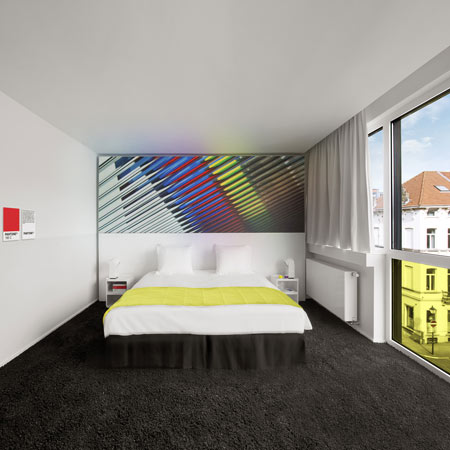 Pantone Hotel by Olivier Hannaert and Michel Penneman