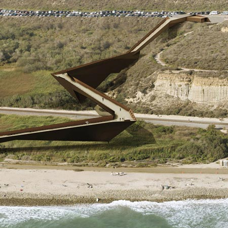 Trestles Beach footbridge by Dan Brill Architects