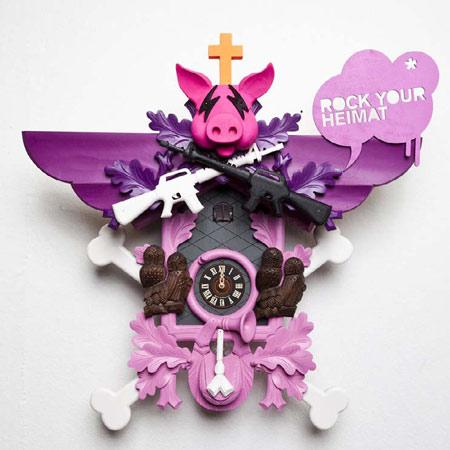 Clocks by Stefan Strumbel