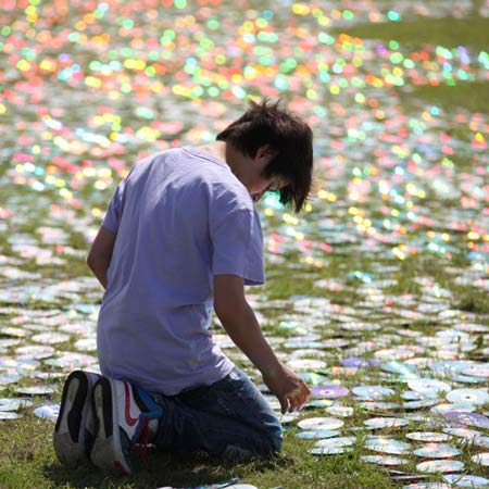 CD Sea by Bruce Munro