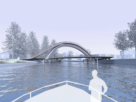 Melkwegbridge by NEXT architects and Rietveld landscape