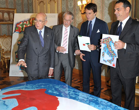 Table Italia by Gaetano Pesce for Cassina