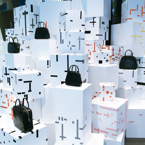 Comme des Garcons Aoyama installation by Studio Toogood