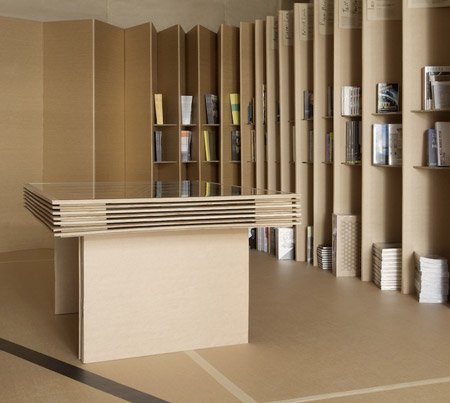 Foldaway Bookshop designed by Campaign