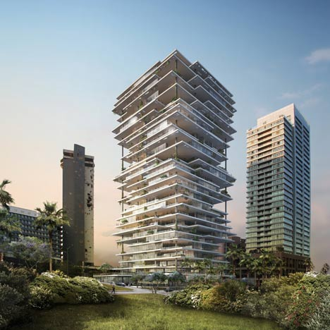 Beirut terraces by herzog de meuron dezeen Modern residential towers