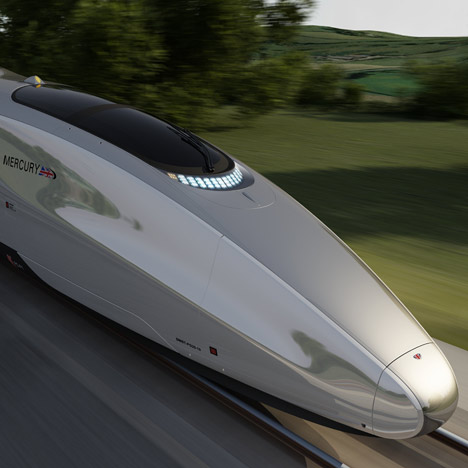Mercury high-speed train by Priestmangoode